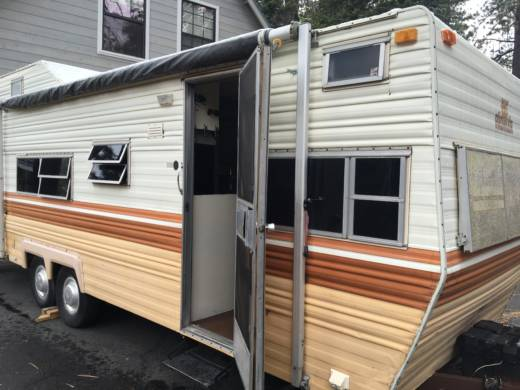 For six months, Lauren Suttie and Nick Lewis lived in their 24-foot RV. There was a waiting list for monthly spots at the RV park, so the pair had to pay $300/week for a site with no water.