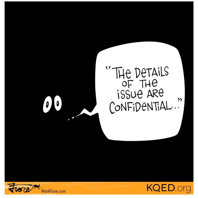 After KQED files lawsuit for records, city of Hayward repeats that it will comply - but only when the investigation is over