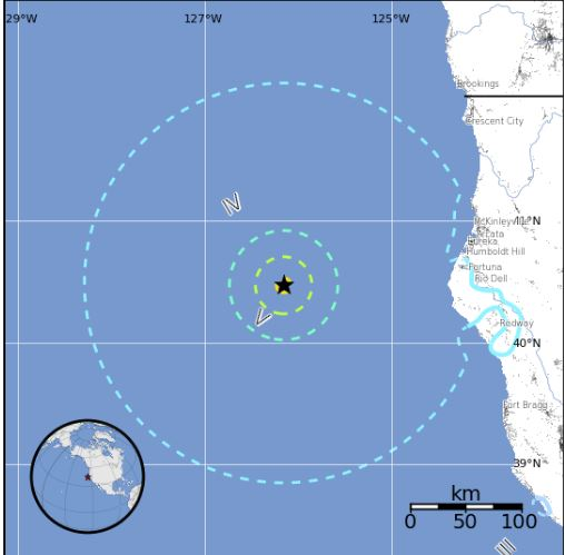 6.5-Quake Strikes Off Northern California