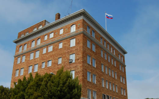 The Consulate General of Russia on Green Street in San Francisco.