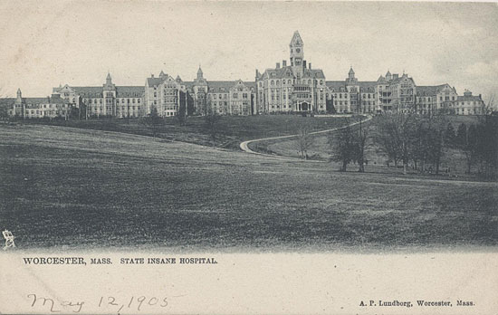 Worcester State Asylum in Worcester, Massachusetts, dated 1905.
