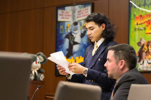 Standing next to his lawyer, 21-year-old Noel Anaya, on his final day as a foster youth, reads a statement in Santa Clara County court explaining how he feels the foster care system failed him and his siblings.