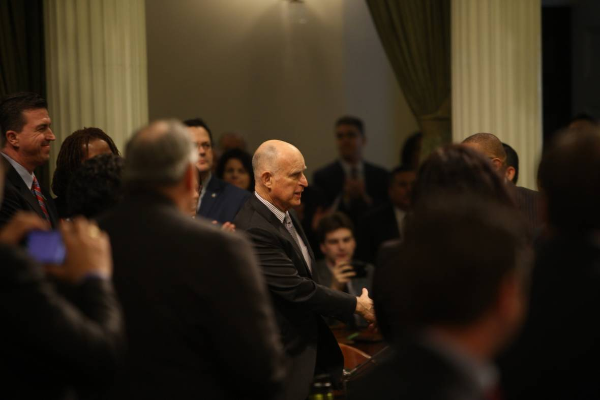Brown Gives Fiery State of the State Address: 'When California Does Well, America Does Well'