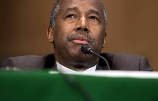 Ben Carson testifies during his Senate confirmation hearing for Secretary of Housing and Urban Development (HUD) on Jan. 12, 2017.