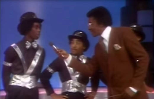 "Timothy Solomon, aka Popin' Pete, being interviewed with The Electric Boogaloos on ""Soul Train"" in 1979."