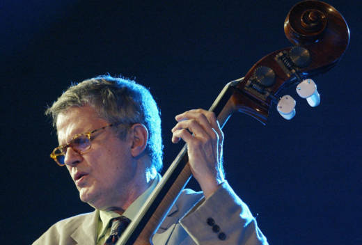 The late jazz bassist Charlie Haden performing in 2005.