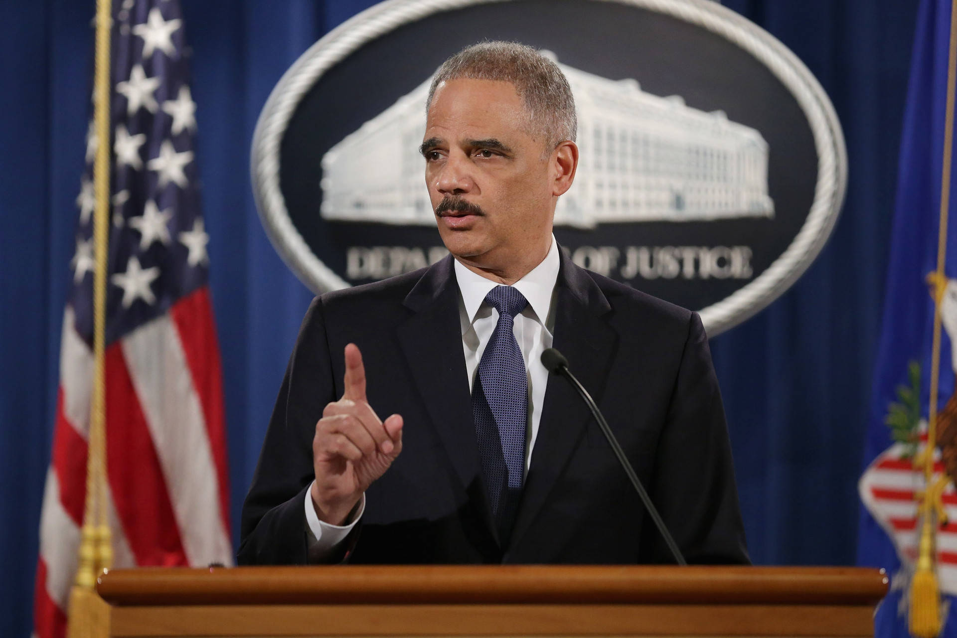 Former U.S. Attorney General Eric Holder in 2015. Chip Somodevilla/Getty Images