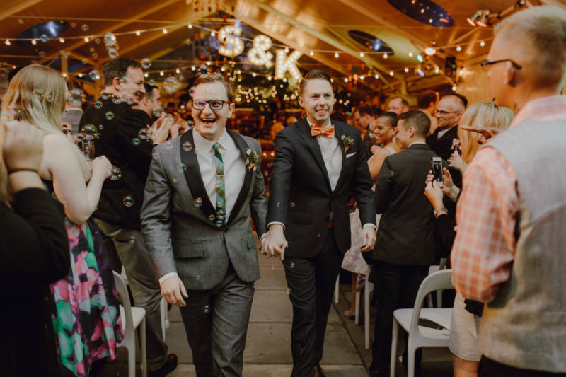 Kimball Allen and his husband, Scott Wilson, on their wedding day in October 2016.