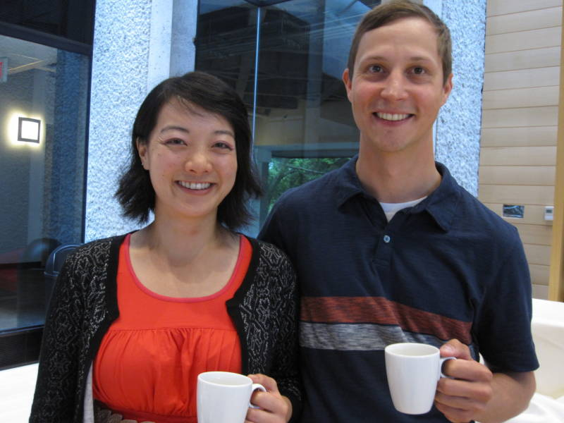 Jen Liu and Andy MacKinnon. This pair is bay curious about fog horns.