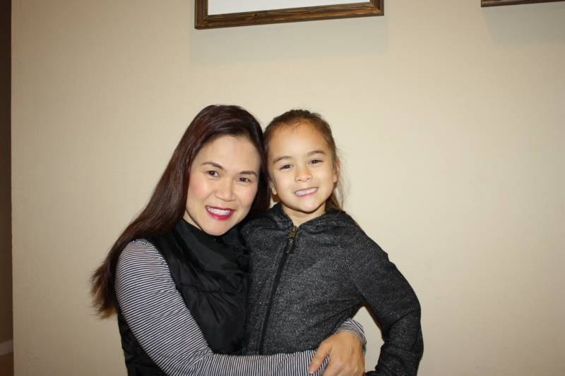Hao Le, of San Jose, with her daughter, Quynh-Mai Duarte, 7.