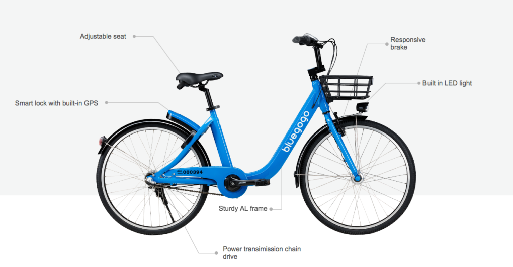Bluegogo insists its bikes will be placed only where its legal to park a bicycle, and that its users will be instructed to do the same.
