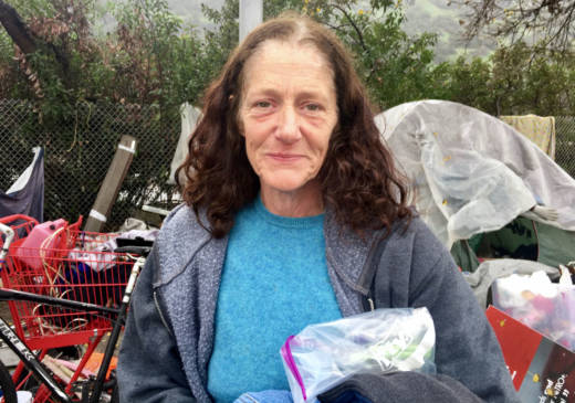 Wendy has been living near the Los Angeles River since last June. She climbed 20 feet up a tree in November to avoid being swept away during a storm.