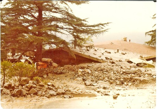 The Genofile home in Glendale, California, after debris flow.