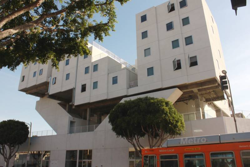 One of a number of permanent supportive housing complexes in downtown Los Angeles complexes that rely in part on rental subsides for formerly homeless tenants .