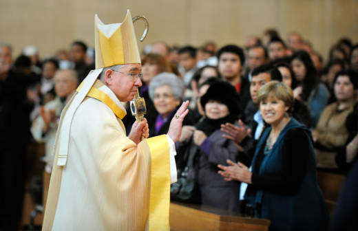 Los Angeles Archbishop Jose Gomez during his Ceremony of Transition in 2011.