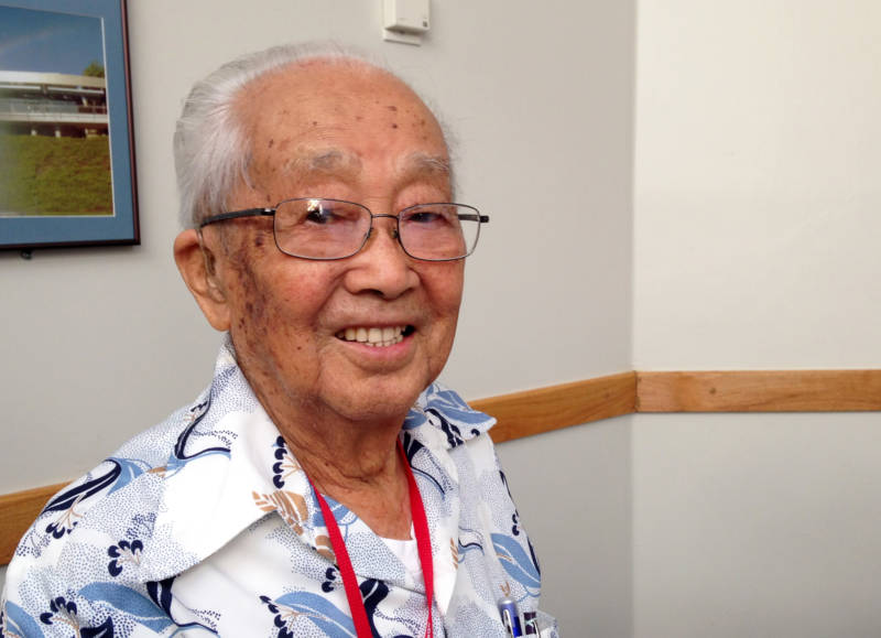 Riichi Fuwa, 98, drove a tractor on the farm at the Tule Lake Segregation Center. Of his time there, he recalls 'You were more number than name.'
