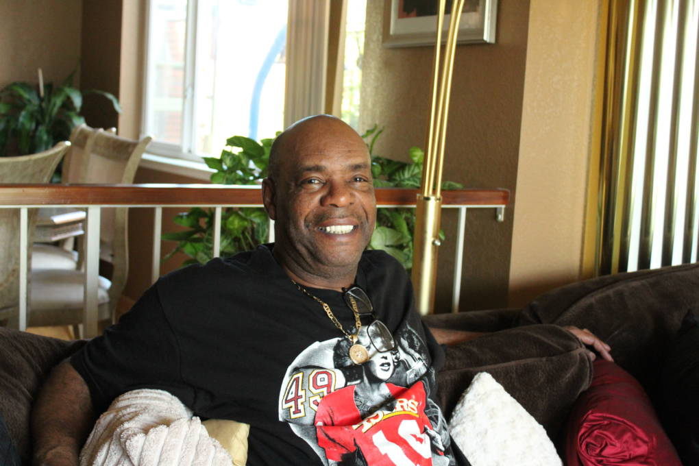 John Young sits in his Vallejo home, where he's lived for 17 years now. He was born and raised in Marin City.
