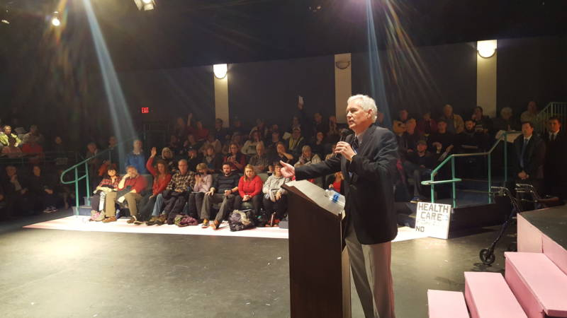 Rep. Tom McClintock (R-Calif.) speaks at a town hall meeting in Roseville, CA on Saturday February 4, 2016.
