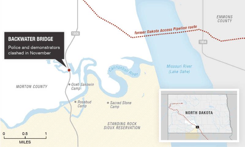 Source: North Dakota state government, Natural Earth, U.S. Census Bureau, USGS, Energy Transfer Partners, Bakken Pipeline Map, Carl Sack, staff reports