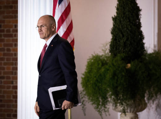 Andrew Puzder, chief executive of CKE Restaurants, dropped out of the running to be Labor secretary.