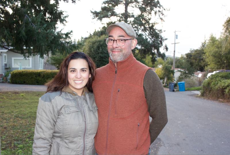 Sarah Caravalho Kahn and Peter Caravalho.