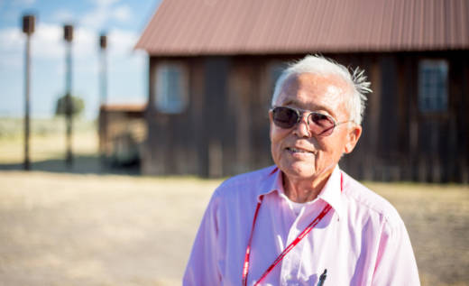 "Jim Tanimoto worked on the freight crew, packing and shipping out produce from the Tule Lake farm. Along with many others, he refused to sign the infamous ""loyalty questionnaire."" He was jailed in a nearby town, and at this former Civilian Conservation Corps camp. He says, ""I stood on my constitutional rights. You can't do this to American citizens."""
