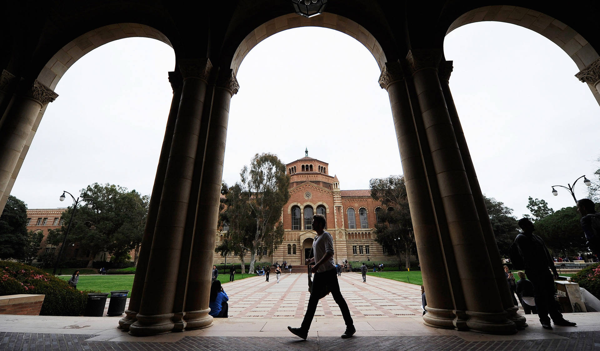 A student walks near Royce Hall on the campus of UCLA. Kevork Djansezian/Getty Images