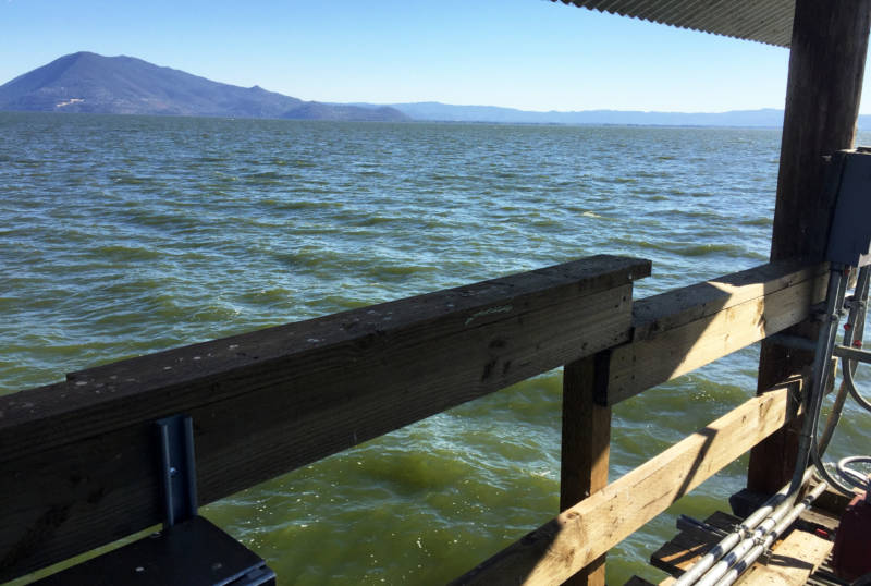 Clear Lake, the source of Lucerne's drinking water, is full of algae, bacteria and other compounds that must be removed before the water reaches customers.