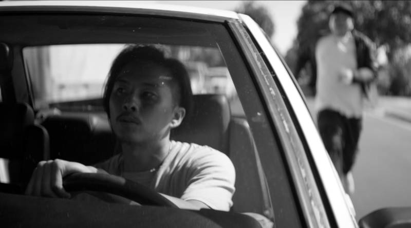 Justin Chon in a scene from his film, 'Gook.'