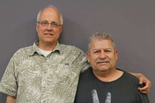 Paul Barnett (L) and Armando Rivera established a lifelong friendship after a chance meeting in a Fresno grocery store 35 years ago.