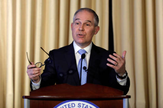 Scott Pruitt's comments on carbon dioxide come just over two weeks after he took the helm of the Environmental Protection Agency, the agency with the authority to regulate CO2 and other greenhouse gases as pollutants.