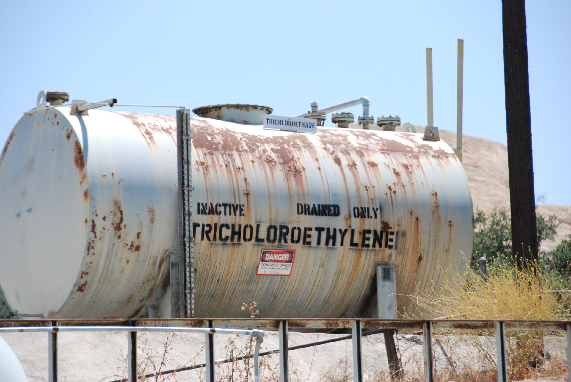 NASA used trichloroethylene, a carcinogen, as a degreaser on its rocket test stands, then poured it into unlined storage ponds. An estimated half-million gallons of trichloroethylene have contaminated the ground beneath Santa Susana.