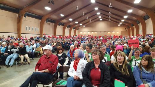 More than 1,400 people attended a town hall held by Republican Congressman Doug LaMalfa on Saturday March 18, 2017.
