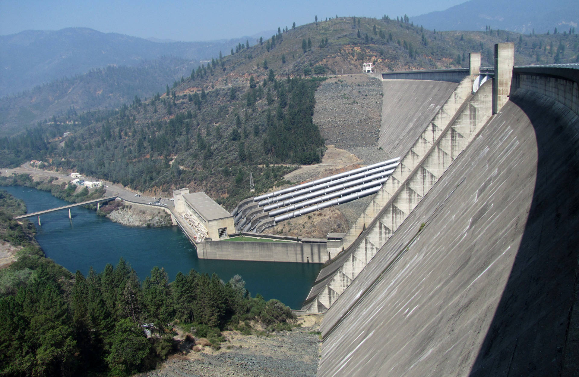 Shasta Dam is the keystone of California's federally operated Central Valley Project. It provides water, flood control and hydroelectric power. Craig Miller/KQED