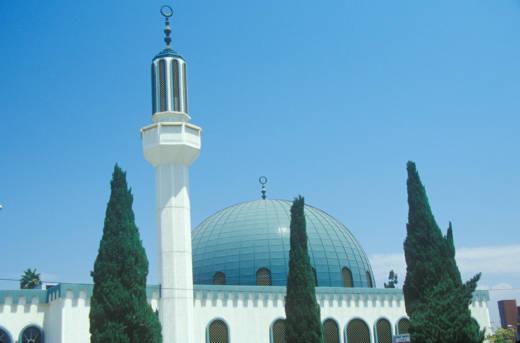 Masjid Omar ibn Al-Khattab Mosque in Los Angeles.