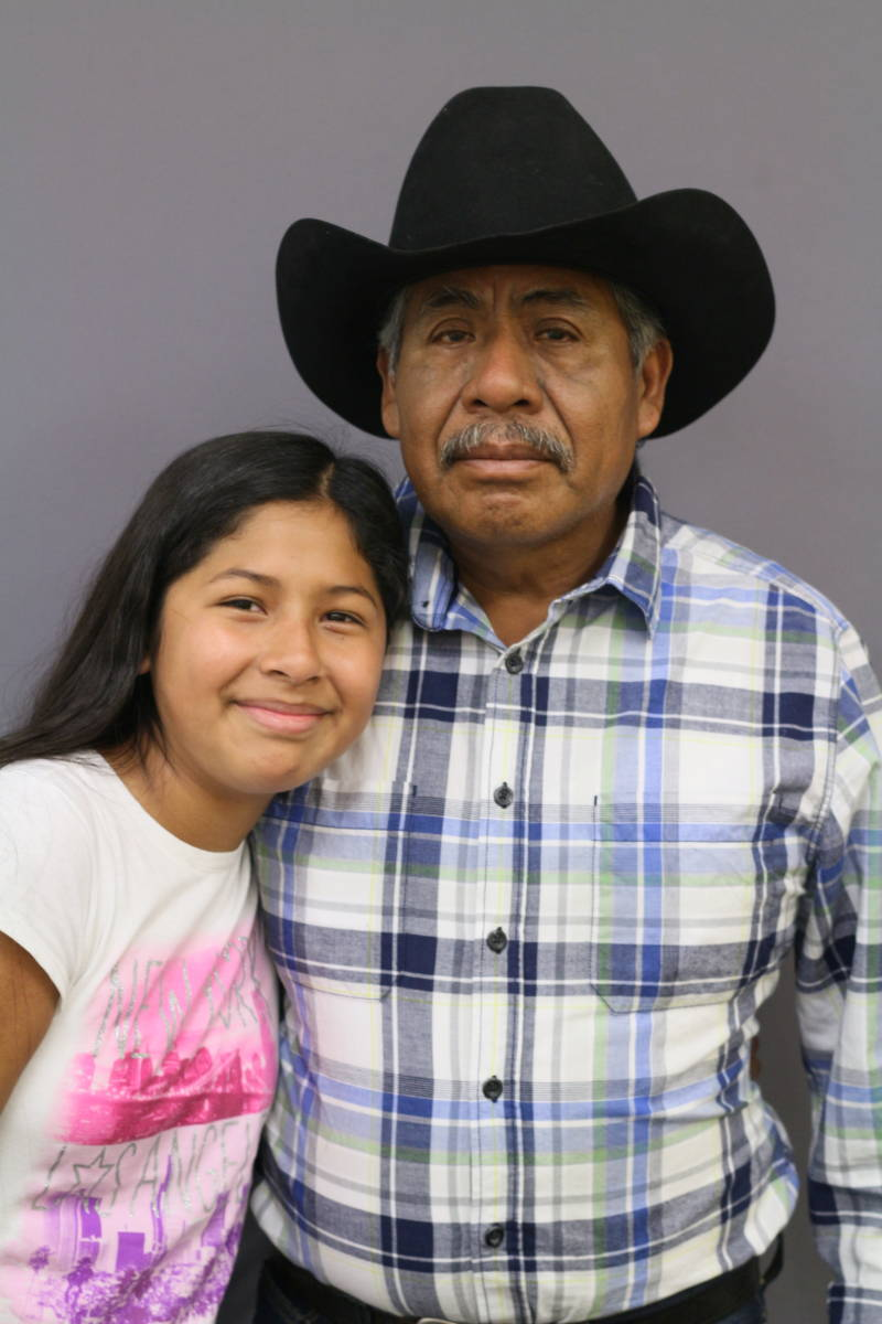 """""""I want to thank him because without him being from Mexico, we wouldn't have all this culture. And I think it's really special that we have all this,"""" says Angelina Flores to her grandfather Julián Flores, who brought the family from Mexico to California."""