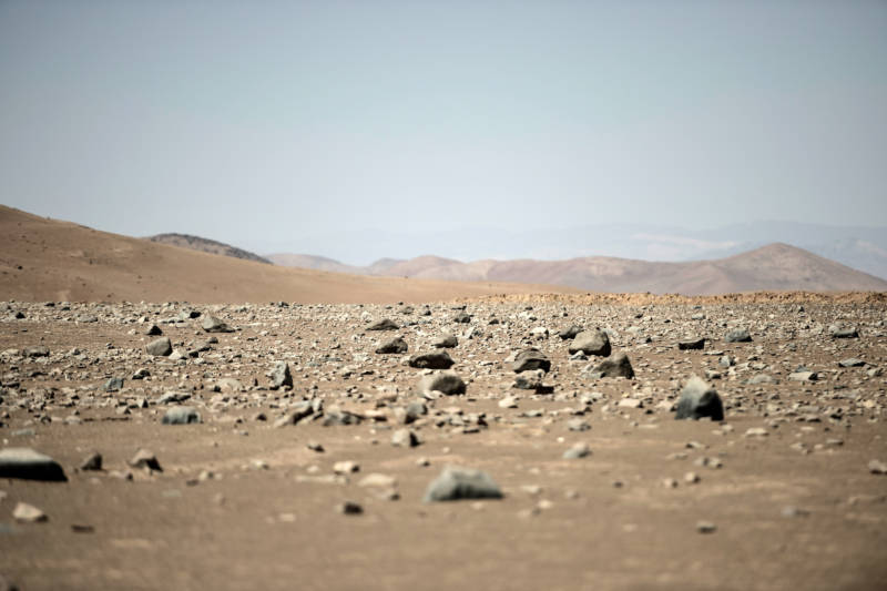 Even in Chile's Atacama Desert, the driest place on Earth, there are water molecules floating overhead.