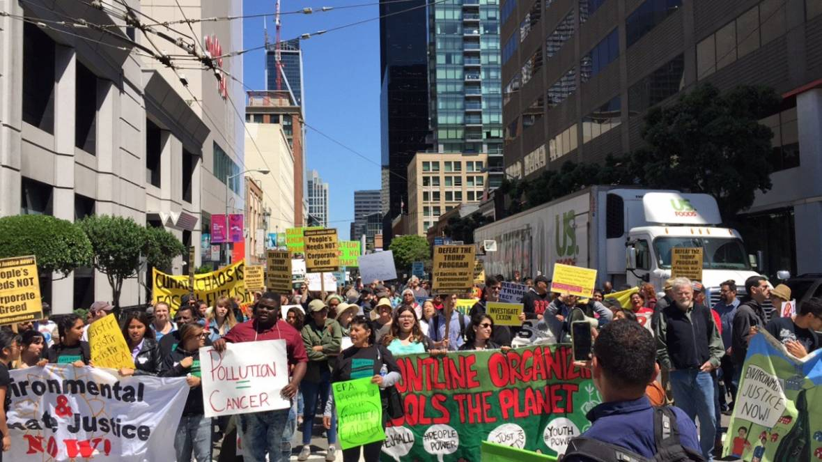 Environmental Groups Rally and March in S.F. to Demand Action from EPA