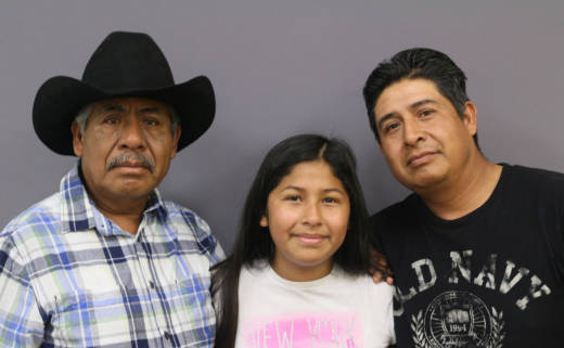59-year-old Julián Flores, his 12-year-old granddaughter Angelina and his 36-year-old son Luis talked about Julian's life growing up in Mexico and moving his family to the United States.