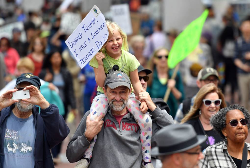 Thousands joined the March for Science in San Francisco, including many kids.