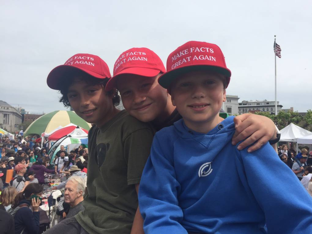 Left to right: Jonah Mansky, 9, Axel Hansen, 10, and Miles cook,10. They all live in San Francisco.