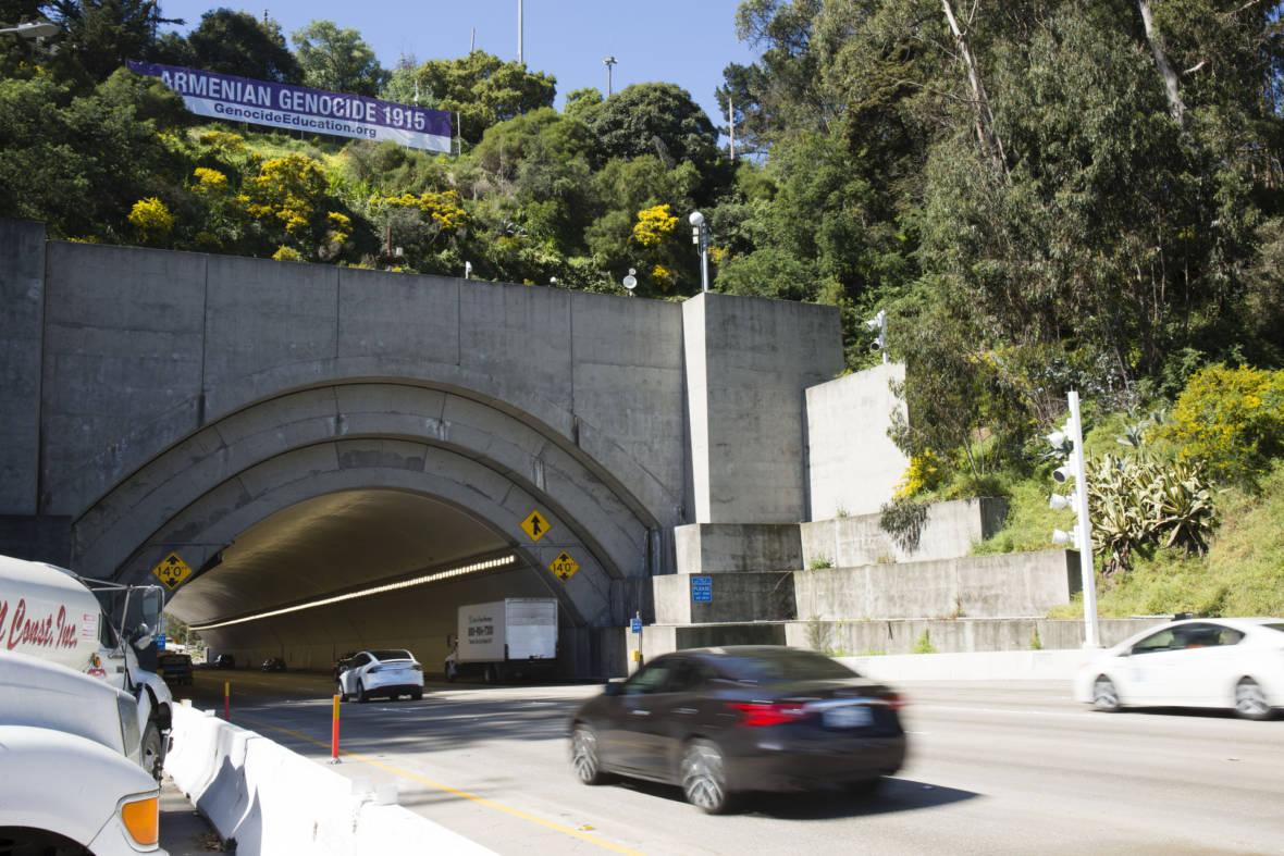 Bay Bridge Banner Commemorates Armenian Genocide