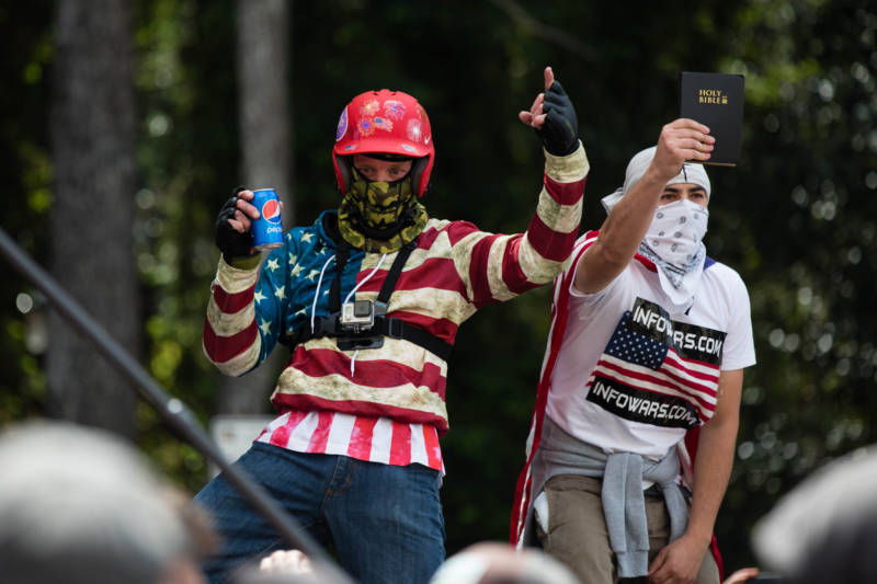 During the clashes between conservative demonstrators and anti-Trump counter-protesters, people on both sides threw cans of Pepsi. It was an ironic reference to a commercial that featured the soft drink dissipating tensions at a protest and was withdrawn after it was called insensitive. On April 15, 2017 Berkeley police arrested at least 21 people after counter-protesters clashed with demonstrators.