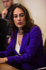 Harmeet Dhillon, trial lawyer and member of the Republican National Committee, was photographed during a press conference at her firm's office in San Francisco on April 24, 2017.