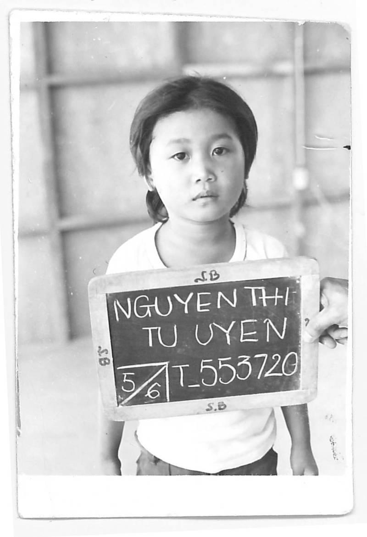 Sen. Janet Nguyen after arriving in California as a Vietnamese refugee.