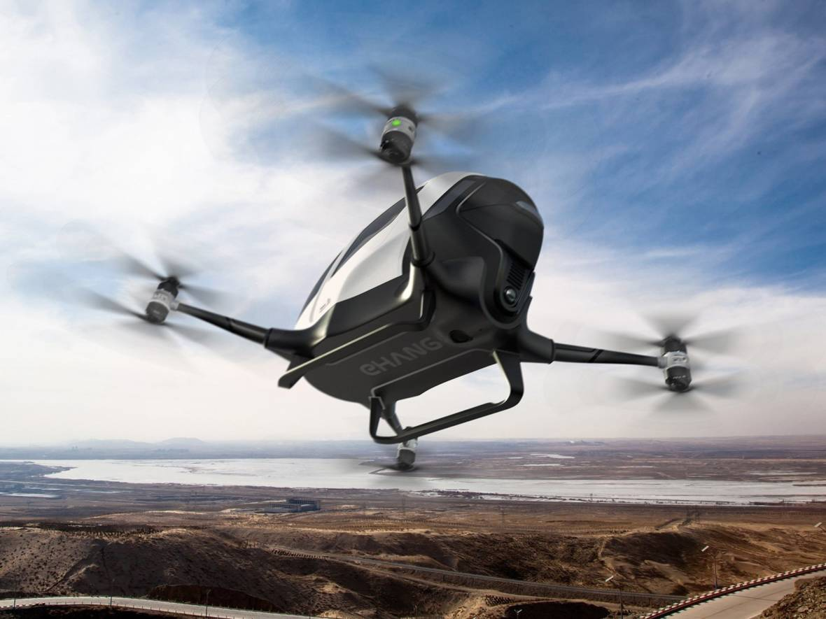 The EHang drone from China will provide VIP sky shuttle service in Dubai. EHang