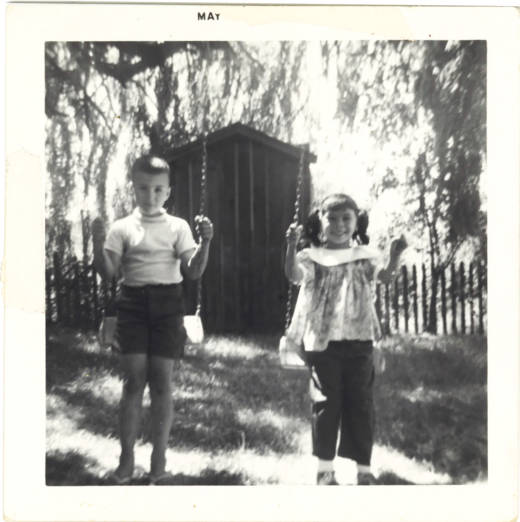 A young Marvin Mutch (left) with his younger sister Valerie.