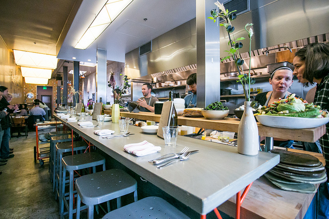 Chef's counter seating at State Bird Provisions on July 27, 2013