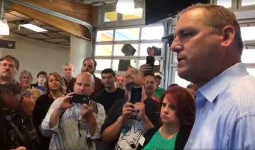 Rep. Jeff Denham (R) meets with constituents on May 9, 2017. The Stanislaus County Republican was a controversial 'yes' vote on the GOP health care bill.