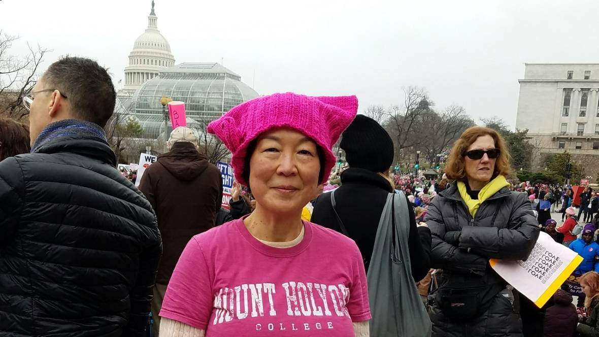 She's 61, an Immigrant and a First-Time Political Protester